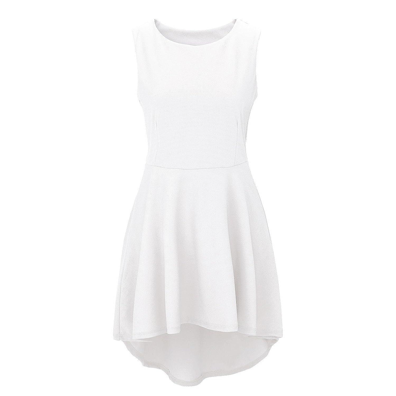 Laeticia Dreams Damen Kleid Knielang Sommerkleid Schleppe S M L XL