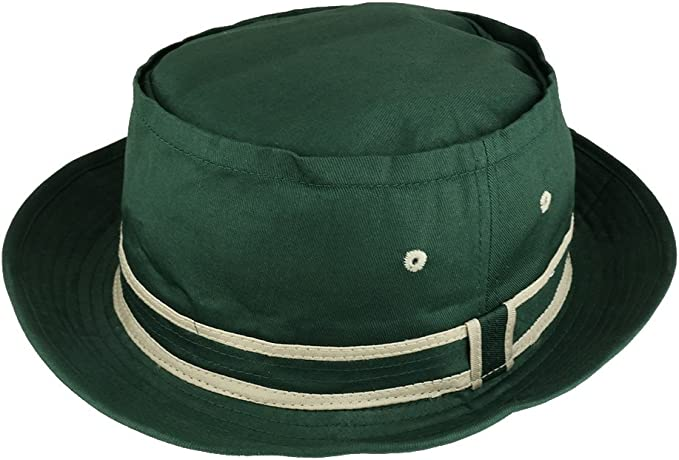 1960s – 70s Style Men's Hats Armycrew Cotton Twill Fisherman Roll Up Bucket Hat with Stripe Band $19.99 AT vintagedancer.com