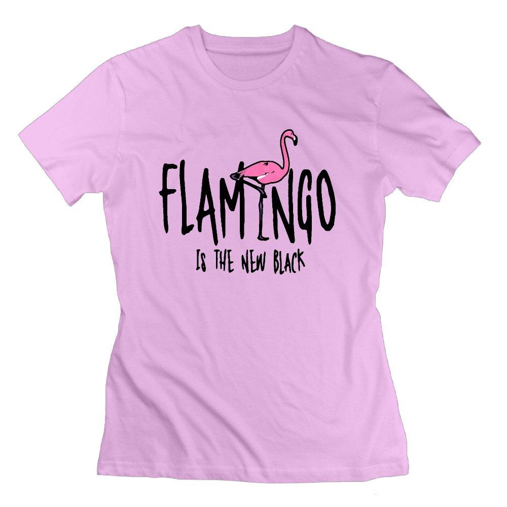 SAXON13 Women's Pink Flamingos Unique T Shirts Pink