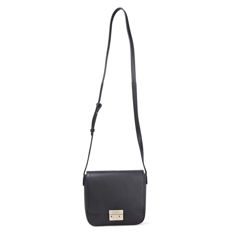 b760676e Emporio Armani Borsa Black Textured Cross-Body Bag Black Leather ...