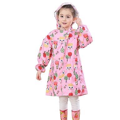 ed5603377f65a3 wuxi Kinder Mädchen Jungen Zipper Regenmantel Große Kapuze Regenjacke Regen  Cape Poncho Jacke Getriebe Wasserdicht Winddicht