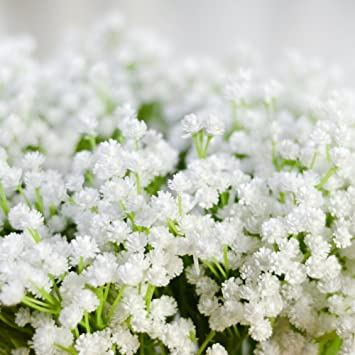 Amazon De Lianle Kunstblumen Schleierkraut Blumenstrauss Dekorative