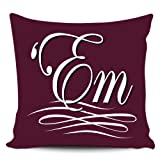 Texas A&M Aggies Gig 'Em Pillow Cover Collector Set Maroon with Zippers 18x18 Premium Quality Elegant Decorative Durable Covers