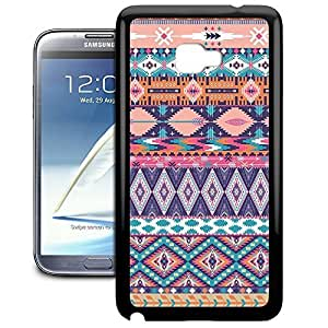 Bumper Phone Case For Samsung Galaxy Note 2 - Pastel Aztec Tribal Geometric Wrap-Around Cover