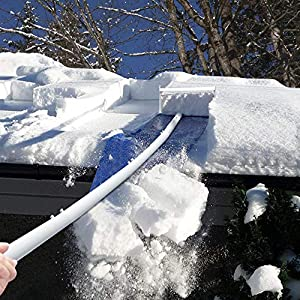 Signstek Roof Snow Removal Tool, 30ft Roof Rake for Snow Removal with Adjustable Extended Handle, Lightweight, Easily…