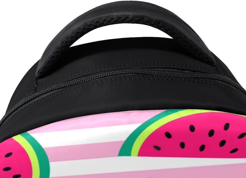 Watermelon Pattern Laptop Backpack High School Bookbag Casual Travel Daypack