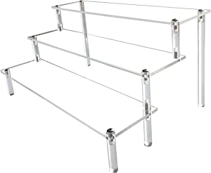 AZEAM Acrylic Riser, Clear Display Risers Stand Large Collection Organizer Shelf for Cupcake Food Desserts Holder Cosmetic Products Tabletop Use and More (Design in US)