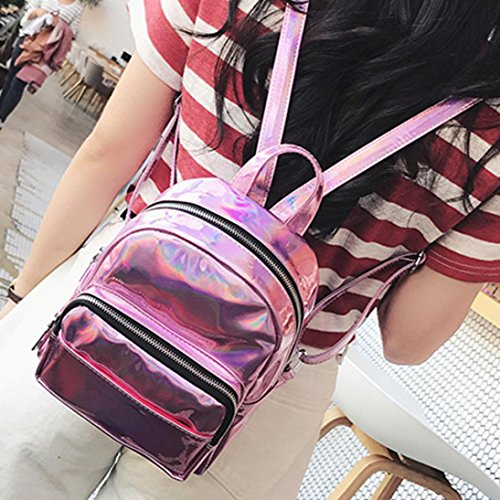 Girls Shoulder For Zipper Schoolbags Rucksack Women Leather Outdoor Pink Teen Casual Travel Waterproof Zerototens Backpacks Bag Fashion Satchel xqCaw0q6B