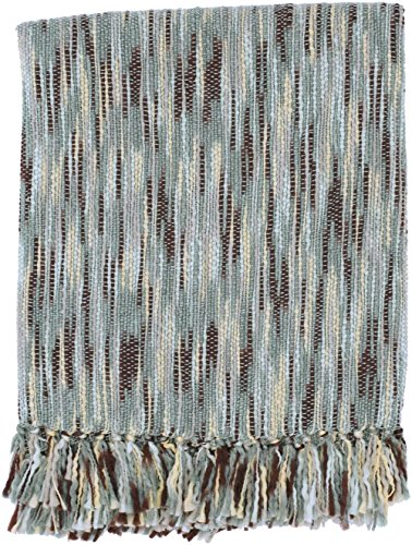 Surya Solid/Striped Rectangle throw 78