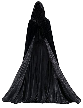 long halloween medieval cloak with a hood cosplay cloak unisex christmas day hooded capes