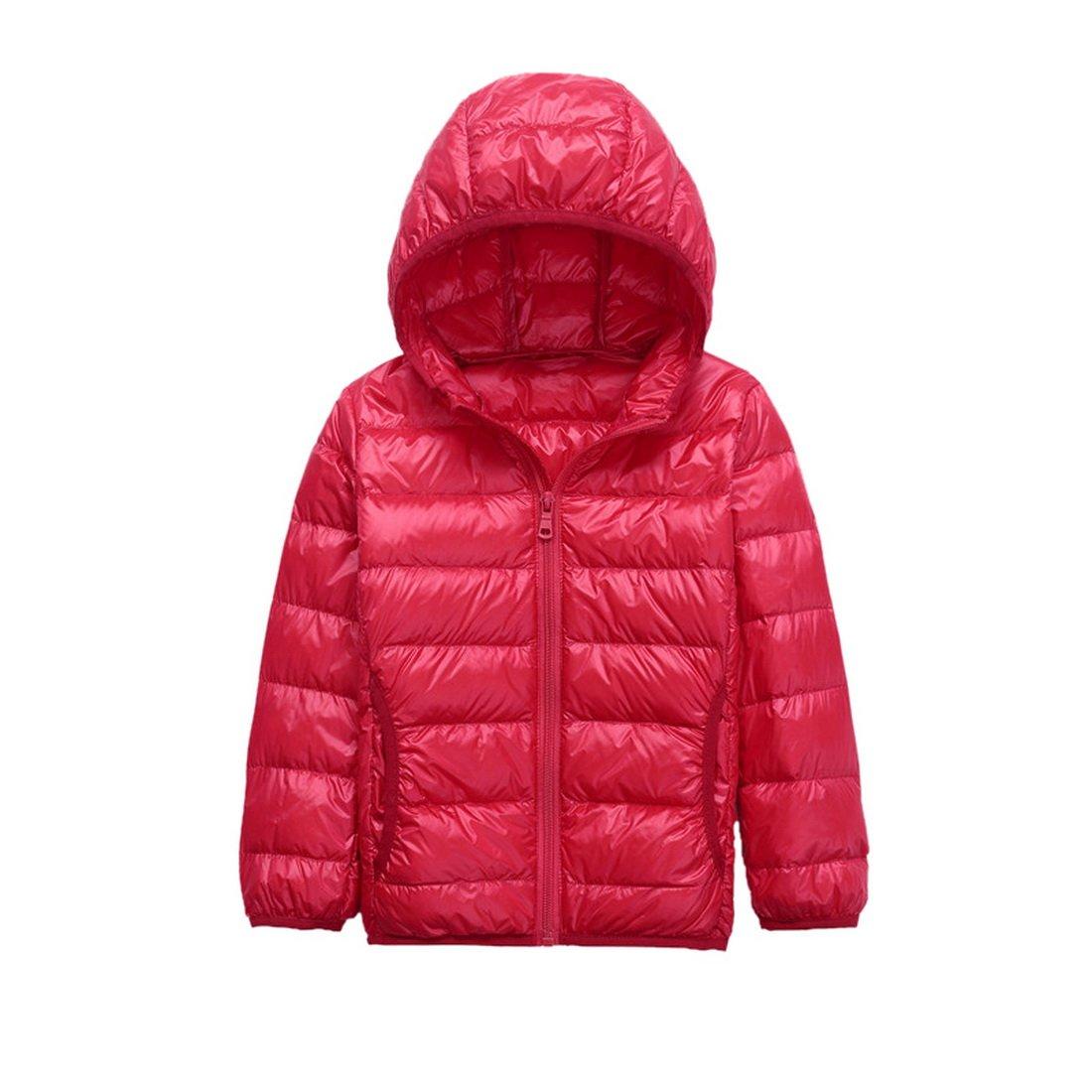 Vertvie Kinder M/ädchen Junge Ultraleichte Wattierte Jacke Steppjacke Daunenmantel mit Kapuze