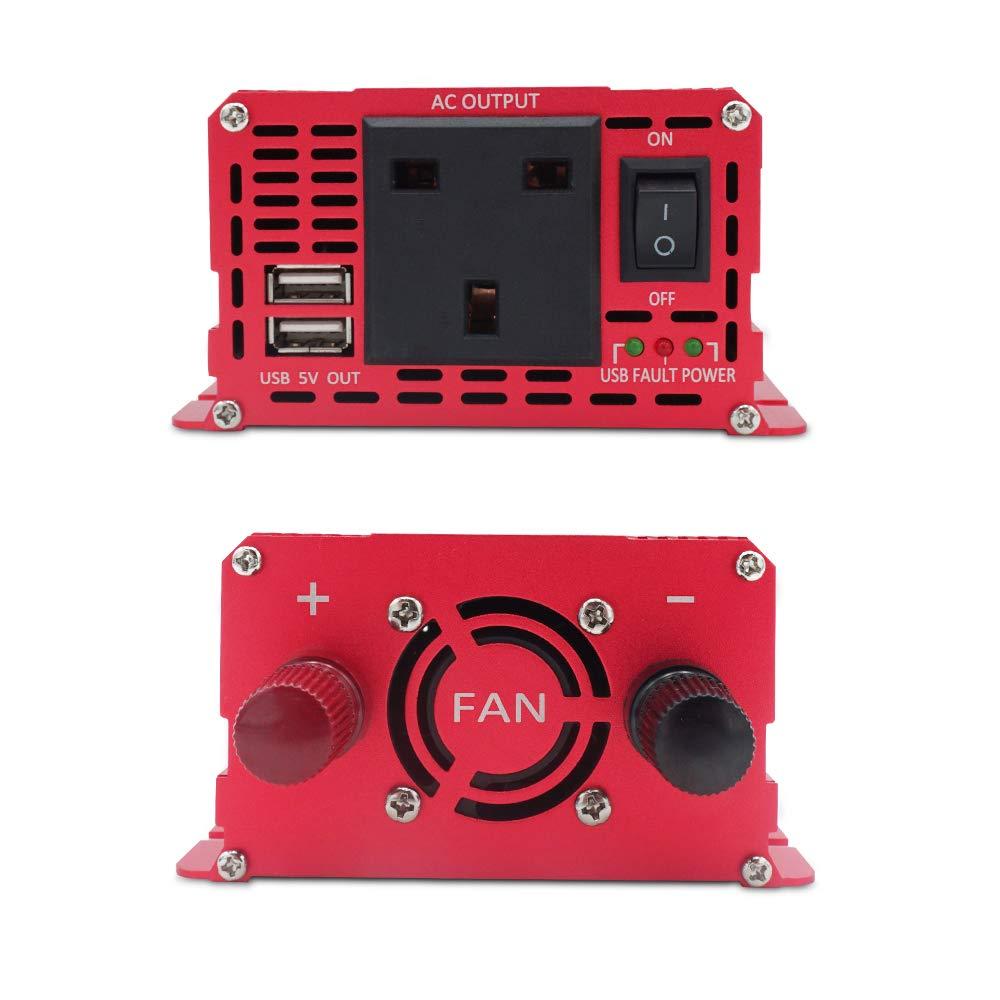 Yinleader 1000 W 2000 W Spitzen-Wechselrichter DC zu AC 12 V zu 230 V 240 V Auto-Konverter mit USB AC Steckdosen Auto-Adapter LCD-Display