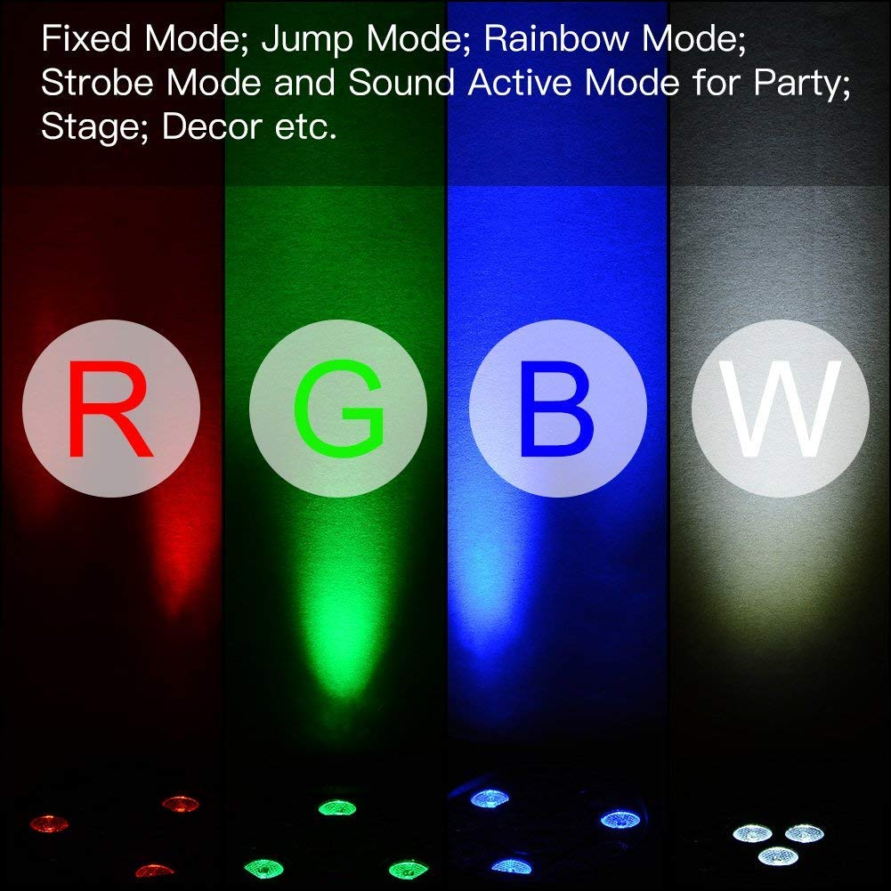 LUNSY DJ Par Lights, 36LEDs Stage Lighting Par Can Controlled by Remoter and DMX Control - 2 Pack by LUNSY (Image #5)