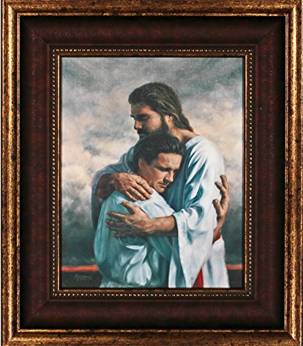 - Framed Picture of Jesus Journey's End By Derek Hegsted Jesus Welcoming Home Embrace