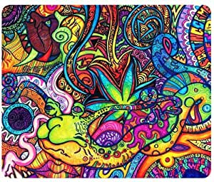 Psychedelic Trippy Artwork Traditional Art Snail Mouse Pad,Customized Rectangular Mousepad