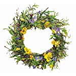 CWI-Gifts-20-Artificial-Mixed-Pansy-Wreath-Multicolored
