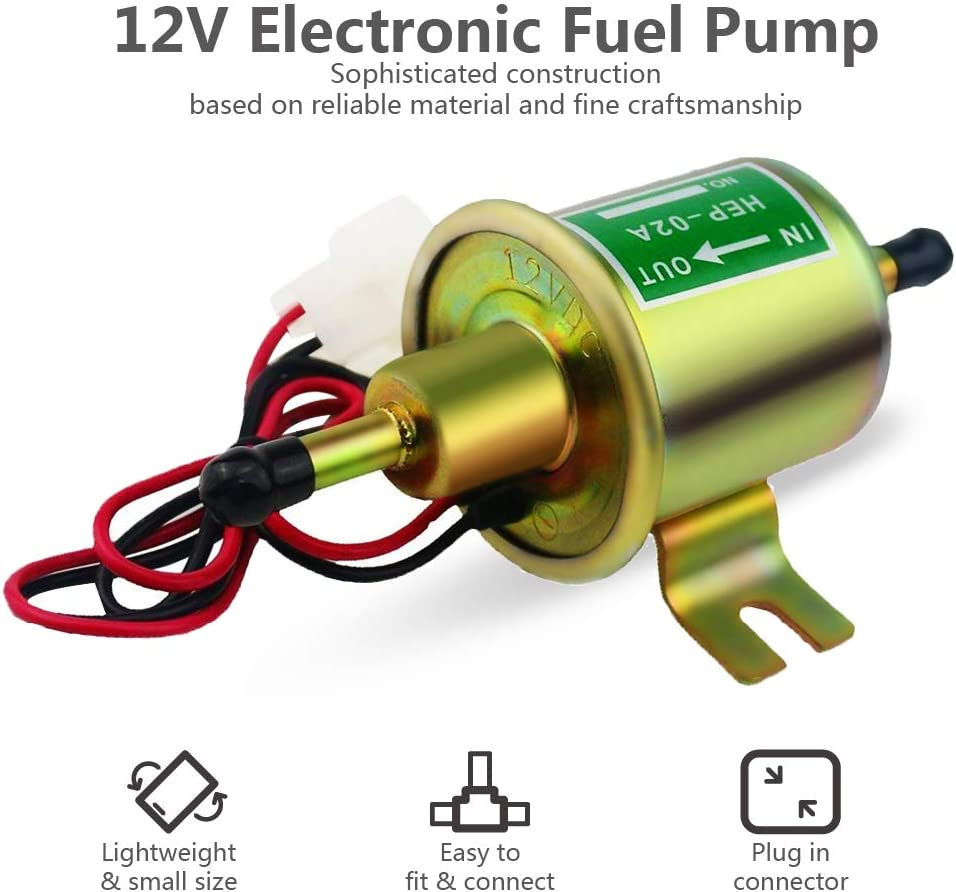 L//h BANG4BUCK Universal Electric Fuel Pump Low Pressure Carbureted Pump 2.5-4 Psi 12V 5//16 Inch 110 for E8012S FD0002 P60430 EP12S