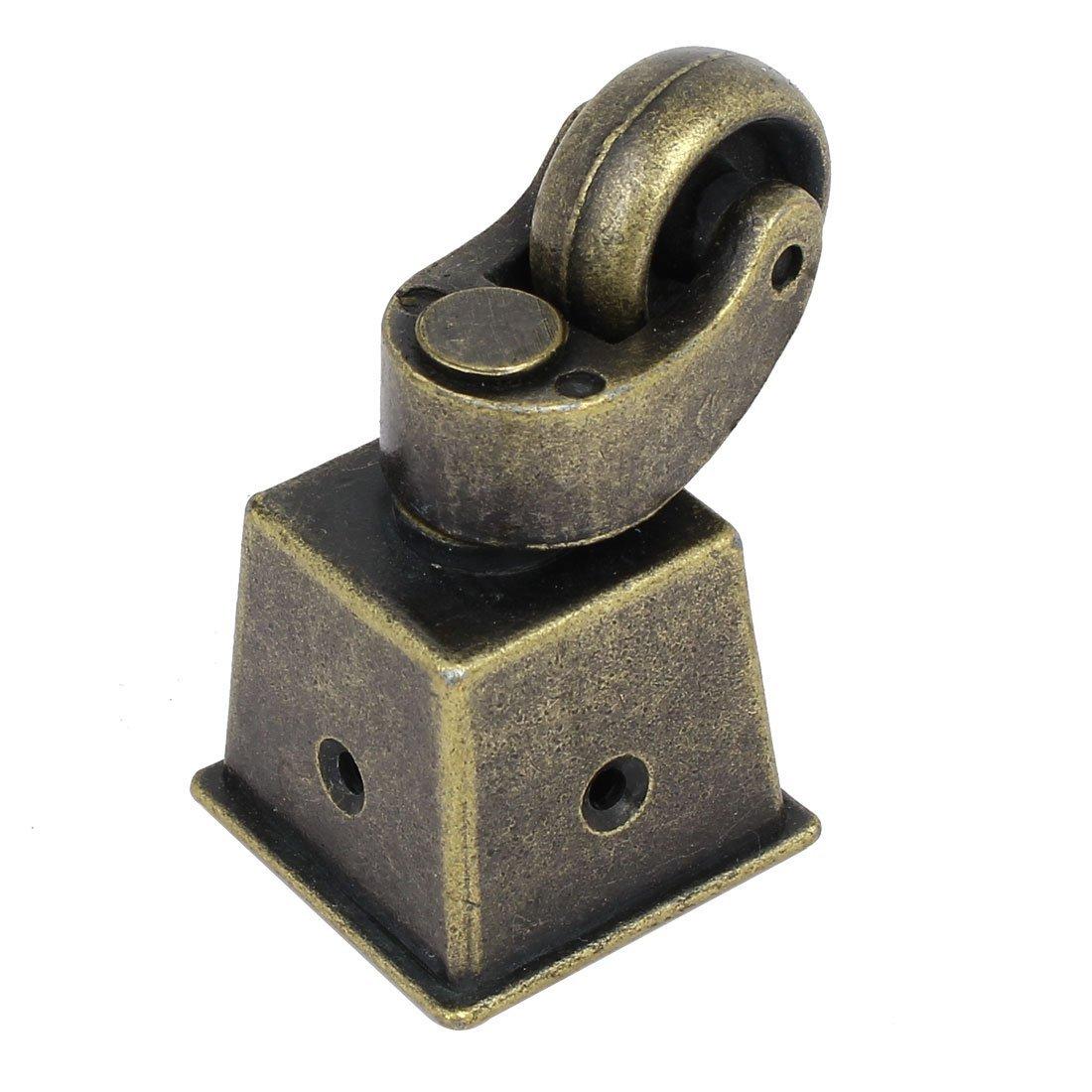 eDealMax 1 pouces Roue pivotante Dia carré Coupe Tone Bronze Caster Pour Chaise Table