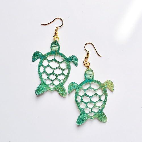 768e640aa0ae Tortugas pendientes - Joyas de tortugas - Joyería tortugas de mar - Accesorios  moda mar -
