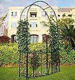 1. GO Steel Garden Arch with Gate, 7'5'' High x