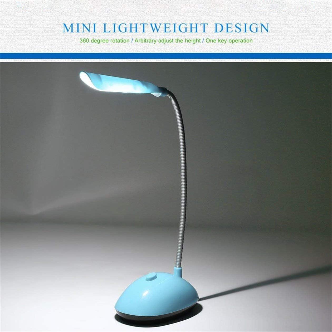 BIYI Fashion Lampada da lettura a libro a batteria economica AAA a vento ultra-luminoso a LED da scrivania con tubo flessibile PY-X7188 blu