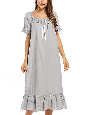165e196891 Avidlove Damen Kleid Nachthemd Schlafanzüge Nachtwäsche Negligees Langarm/Kurzarm  Kurz Absatz/Lang Absatz Dessous