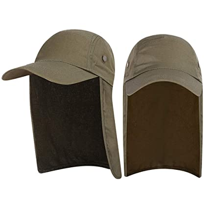 7cfa7241 Amazon.com: Glumes Sun Caps with Neck Flap Baseball Cap, Quick Dry &  Breathable Outdoor Sun Hat, UPF 50+ Fishing Cap for Golf Hunting  Backpacking Gardening: ...