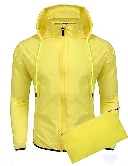 Coofandy Chaqueta Impermeable Deporte con Capucha y Bolsillo de Moda para Hombre: Amazon.es: Ropa y accesorios