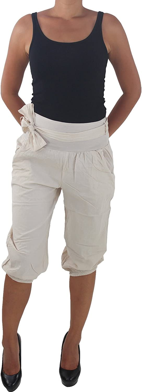 Damen Pump Boyfriend Chino Bermuda 3//4 Capri Kurze Hose Hüfthose Shorts Sommer