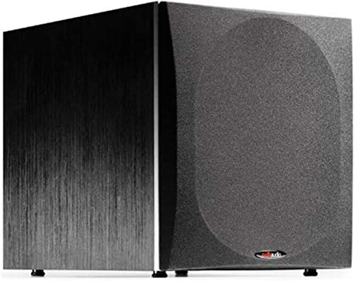 Polk Audio PSW505 12 Powered Subwoofer – High Precision Bass with Extreme Power Wide Soundstage Up to 460 Watts Big Bass at a Great Value