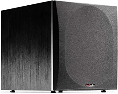 """Polk Audio PSW505 12"""" Powered Subwoofer - Deep Bass Impact & Distortion-Free Sound, Up to 460 Watts, Easy Integration with Home Theater Systems"""