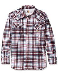 Carhartt Mens Men's Flame Resistant Snap Front Plaid Shirt