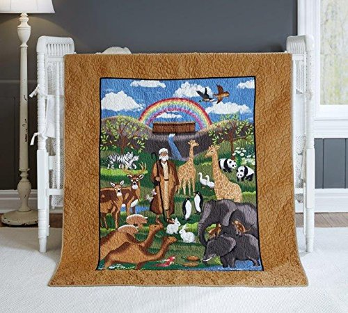 Donna Sharp Noah's Ark (Toffee), Baby Quilt