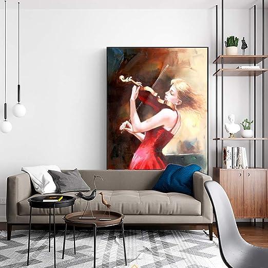 WSNDGWS Chica pintando una Bailarina romántica sobre un ...