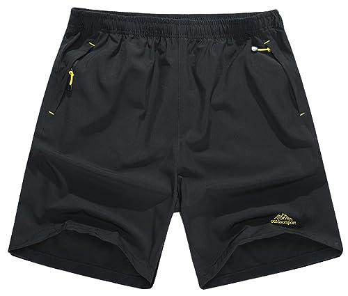 Singbring Men's Outdoor Active Quick Dry Hiking Shorts Zipper Pockets