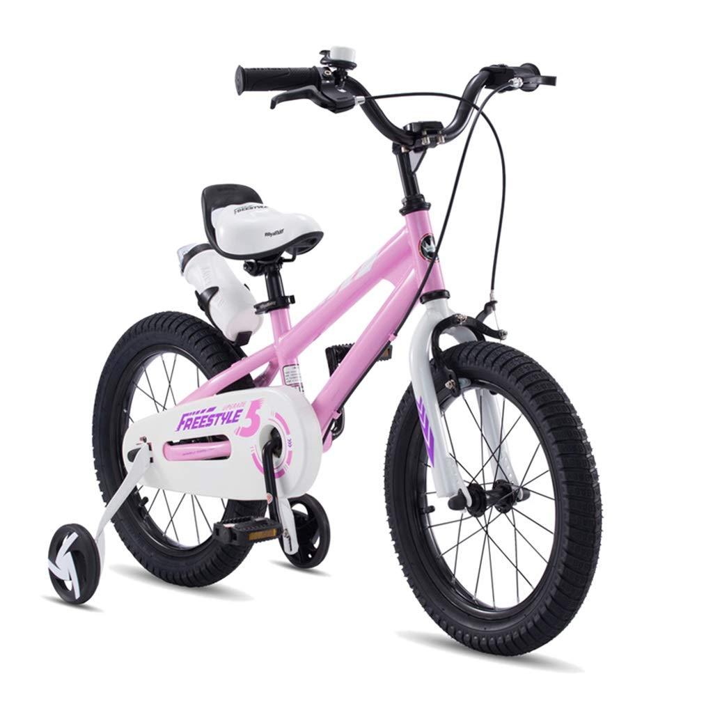 子ども用自転車 子供の自転車自転車3-10歳の子供男の子と女の子ペダルベビーカー自転車携帯自転車軽量自転車 (Color : Pink, Size : 14 inch) 14 inch Pink B07RV4598D