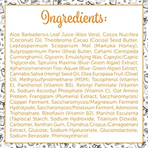 Ultimate Organic Moisturizer Cream (2 oz) Face & Body, Manuka Honey, Aloe Vera, Anti-Aging, Dry Skin Repair Lotion, Eczema, Psoriasis, Rashes, Rosacea, Wrinkles, 100% by Honeyskin