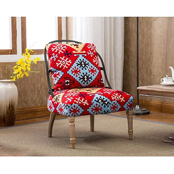Amazon.com: YQQ-Lazy Sofa Retro Nordic Single Armchair Iron ...