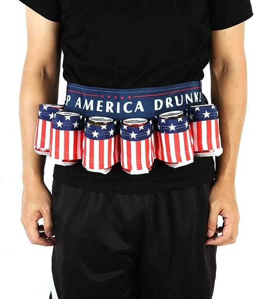 6 Pack Beer Belt Portable Soda Can Holster Drink Bag Party Holder Adjustable C