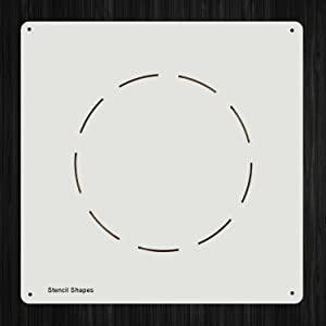 Dashed Circle Geometry Dashes Dash Plastic Mylar Stencil for Painting, Walls and Crafts, Item 695535
