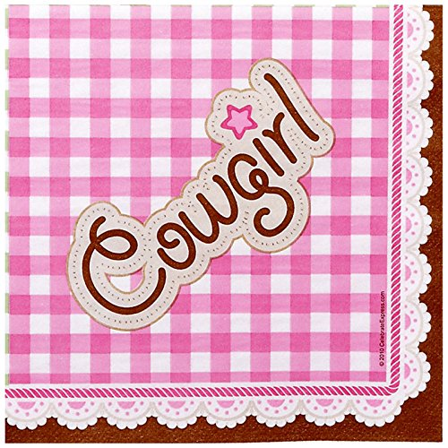 Pink Cowgirl Party Supplies - Lunch Napkins (16) Western Lunch