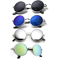 ELLIGATOR Unisex Rounds Combo Sunglasses (Multicolour)