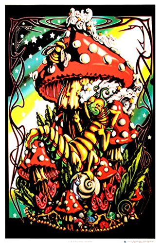 Blacklight Poster 22 x 34in (Mushroom Blacklight Poster)