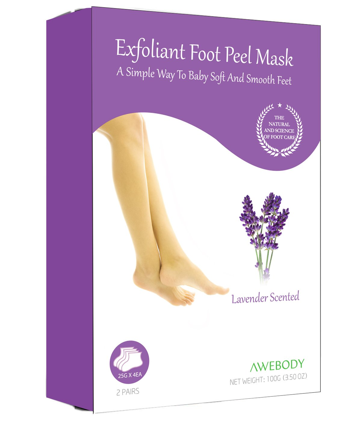 2 Pairs Foot Peel Mask, Soft Touch Foot Peel Mask Exfoliating, Remove Dead Skin & Calluses Naturally, Get Smooth, Soft foot For Men & Wome, Best Soft Foot Peel Mask for 2018