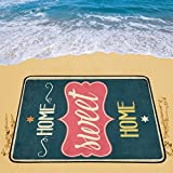 Happy More Custom Retro Metal Sign Home Sweet Home Portable & Foldable Mat 60x78 inch