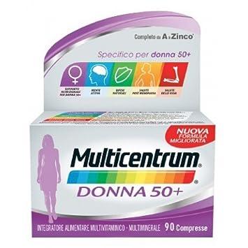 Las mujeres mayores de 50 años MULTICENTRUM Complemento Alimenticio 90 Tabletas: Amazon.es: Salud y cuidado personal