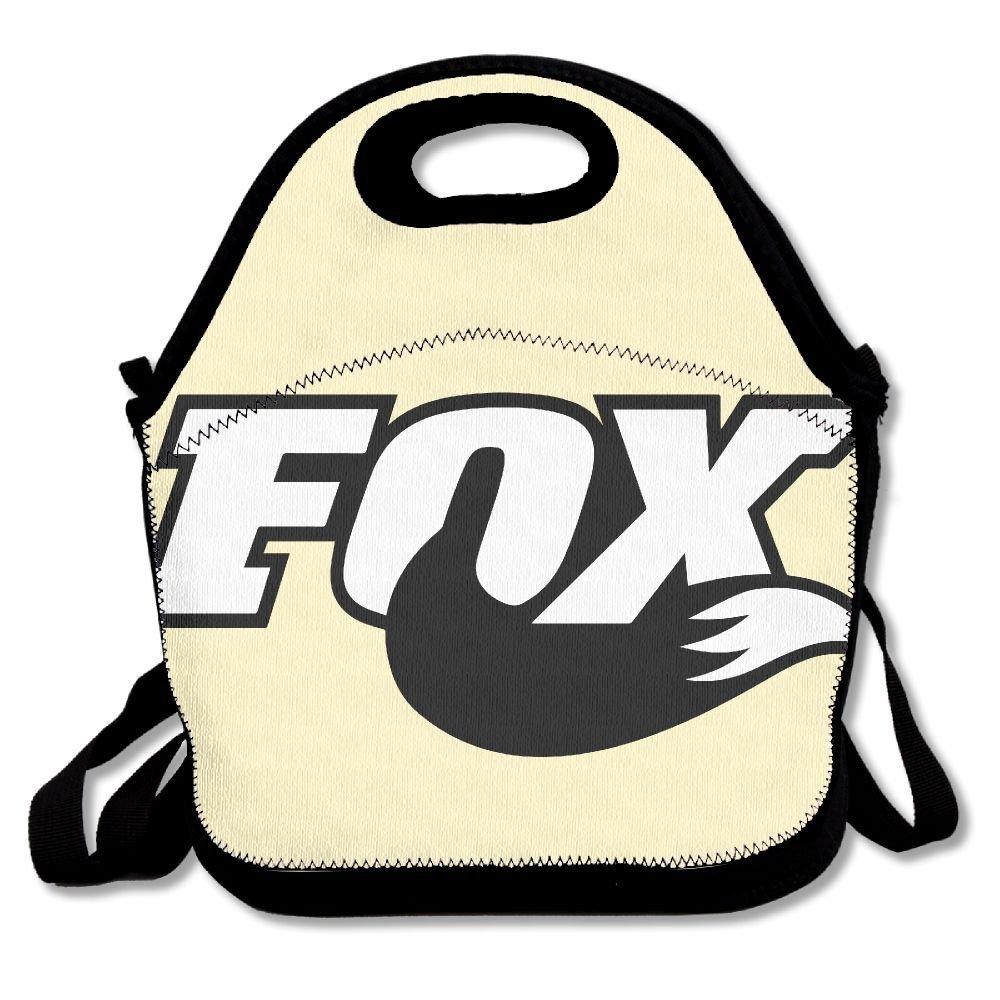 Fox Racing borsa termica per il pranzo con cerniera, maniglia e tracolla per adulti o bambini nero Vercxy