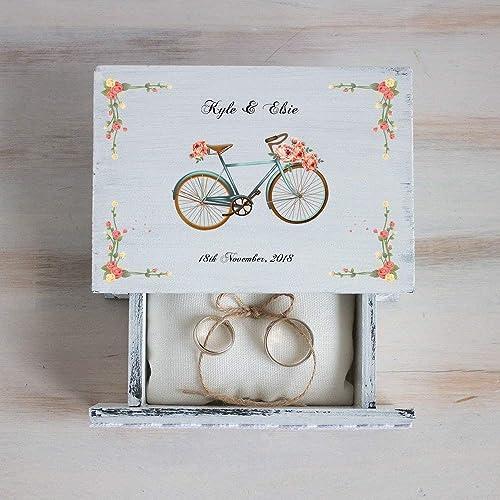Amazoncom White Ring Box Personalized Wedding Box Ring