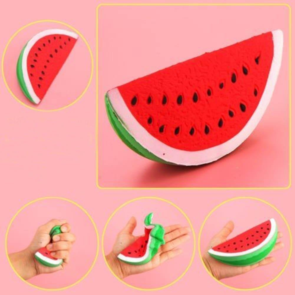 Amazon Jumbo Slow Rising Squishy Toys Scented Squeeze Watermelon Stress Relief Toy Games