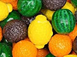 fruit shapes - Fancy Fruit Shape Dubble Bubble Gum Balls 1 Pound Bulk-With Mystery Stickers & Mystery Bouncy Ball 27mm